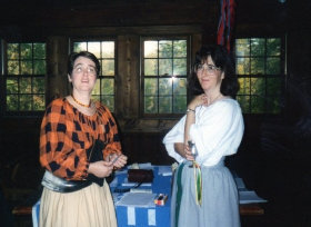 Rosalind in her early years in the SCA